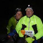 Bei km 140 treffen wir Claudia, die zum 100 km-Lauf gestartet ist