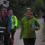 km 147: Claudia zu schnell für unsere Kamera. :-)